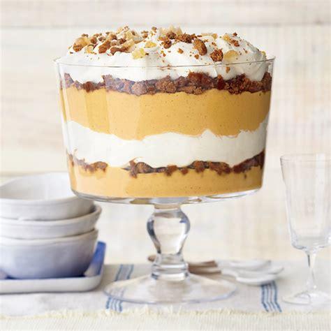 pumpkin trifle with vanilla mascarpone recipe myrecipes