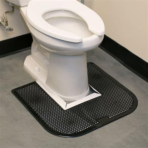 23 quot x 22 quot black disposable toilet floor mat imp 1550 5