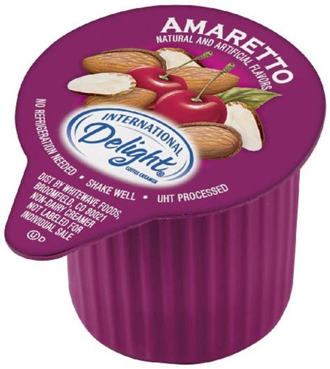 International Delight Amaretto Liquid Creamer, 288 Count Single Serve Packages