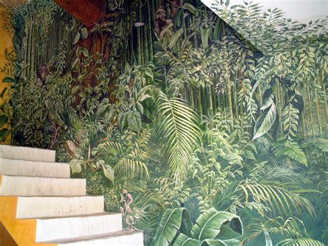 fresque jungle fresques en trompe l oeil peinture murale