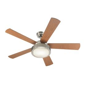 harbor poets cove 52 in brushed nickel downrod mount ceiling fan with light kit and