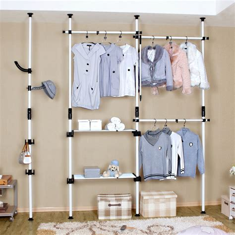 Simple Stacked Laundry Room Clothes Hanger Racks Designs