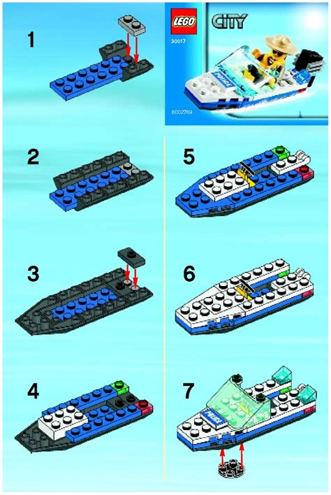 Lego City Police Boat Instructions by Lego Police Boat Instructions 30017 City