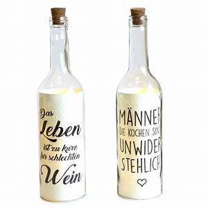 Lichterkette In Flasche : 2er set beleuchtete flasche mit led beleuchtung und spruch wohnaccessoires lampen ~ Markanthonyermac.com Haus und Dekorationen