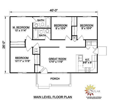 one level house floor plans single level house floor plans house plan 94451 at familyhomeplans