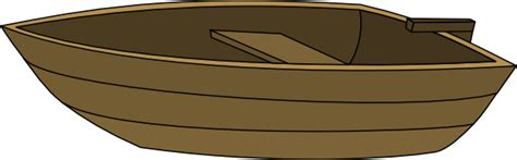 Cartoon Wood Boat by Boat Without Mast Clip Art At Clker Vector Clip Art