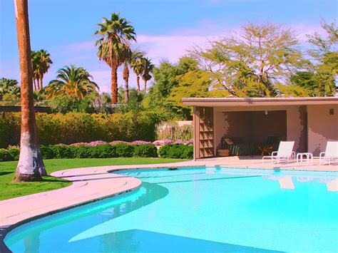 sinatra pool cabana palm springs photograph by william dey