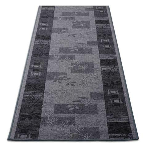 tapis de cuisine design gris avec motif 3 largeurs tapistar fr