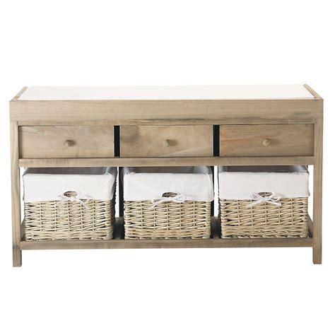 d 233 co naturelle notre s 233 lection de meubles en bois blanchi banc de rangements elo 239 se maisons