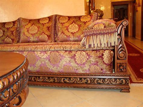 d 233 coration de salon marocain banquette en bois pour salon marocain