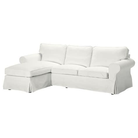ektorp two seat sofa and chaise longue blekinge white ikea