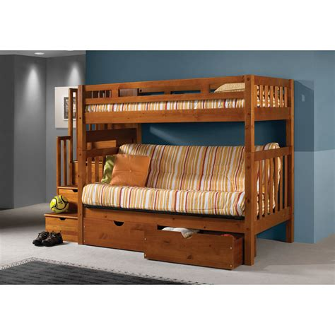 donco stairway loft bunk bed with storage drawers wayfair