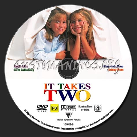 It Takes Two Dvd Label  Dvd Covers & Labels By Customaniacs, Id 66798 Free Download Highres