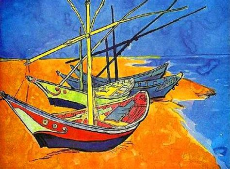 Boat Paintings By Famous Artists by Vincent Van Gogh 1853 1890 Famous Artist