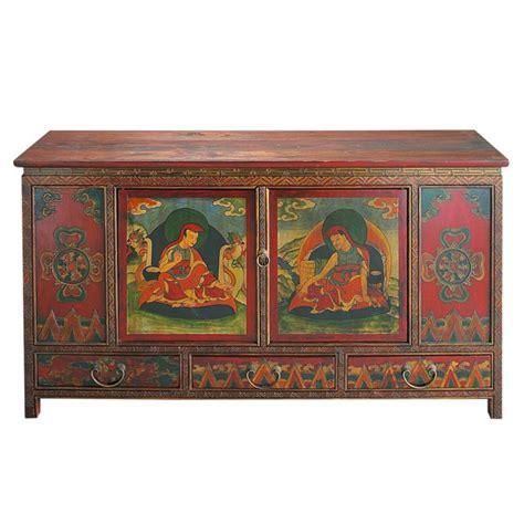 wooden indian cabinet multicoloured w 120cm lhasa maisons du monde