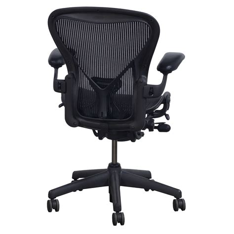 herman miller aeron posturefit used size b leather arm task chair carbon national office