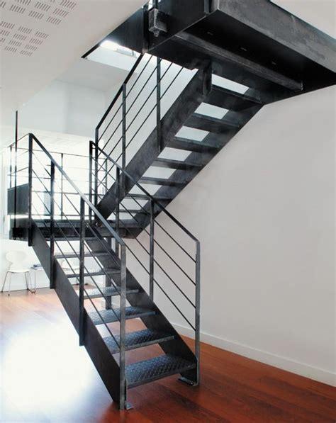 escalier m 233 tallique photo dt37 esca droit 174 2 quartiers tournants avec palier