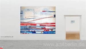 Bilder Günstig Kaufen : kraftlinien acryl auf leinwand 160 125 cm original 990 euro art4berlin kunstgalerie ~ Markanthonyermac.com Haus und Dekorationen