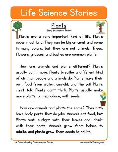 Reading Comprehension Worksheet  Plants  Science  Pinterest  Reading Comprehension, Reading