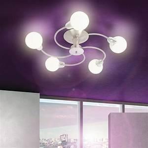 Moderne Lampen Schlafzimmer : moderne deckenleuchte energiesparend wohnzimmer schlafzimmer glaskugeln lampe ebay ~ Whattoseeinmadrid.com Haus und Dekorationen