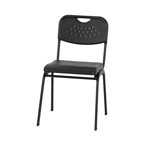 hercules 880lb cap plastic stack chair w blk powder coated