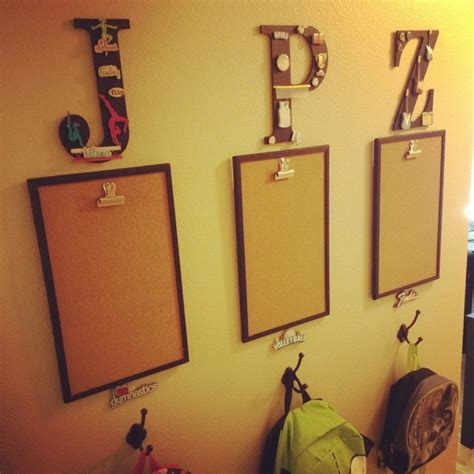 backpack hooks for home personalized corkboard and backpack hooks home ideas