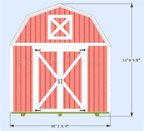 10 x 12 gambrel shed plans free plans free