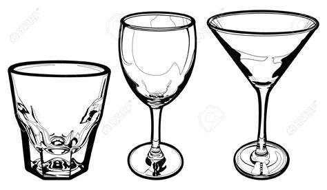 Water Glasses Clipart Collection
