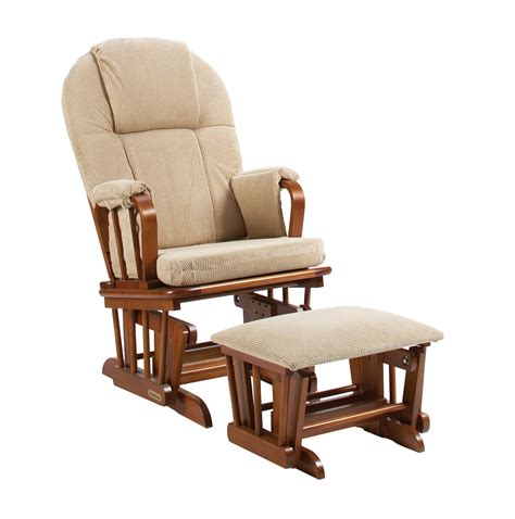 shermag glider rocker ottoman combo chestnut with galaxy