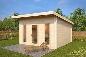 Fass Als Gartenhaus : gartenhaus mit pultdach aruba 15m 44mm 4x4 hansagarten24 ~ Markanthonyermac.com Haus und Dekorationen
