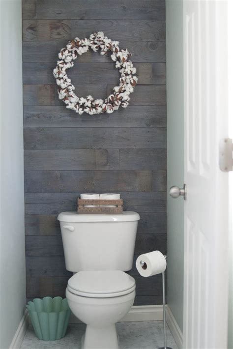 25 best ideas about bathroom accent wall on plank walls toilet room and half bath