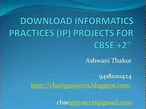 DOWNLOAD CBSE INFORMATICS PRACTICES (IP) PROJECTS CLASS ...