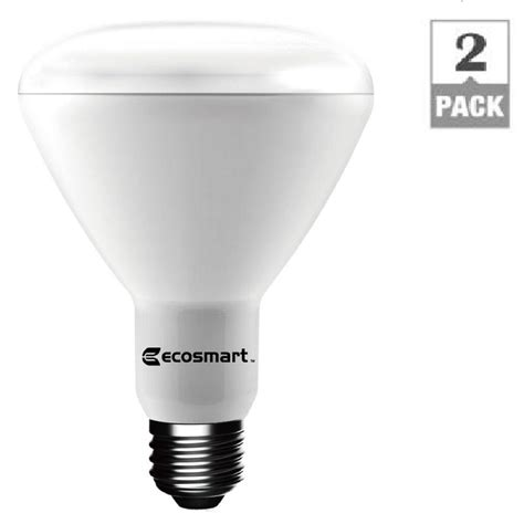 ecosmart 75w equivalent soft white br30 dimmable led light bulb 2 pack 1003012903 the home depot