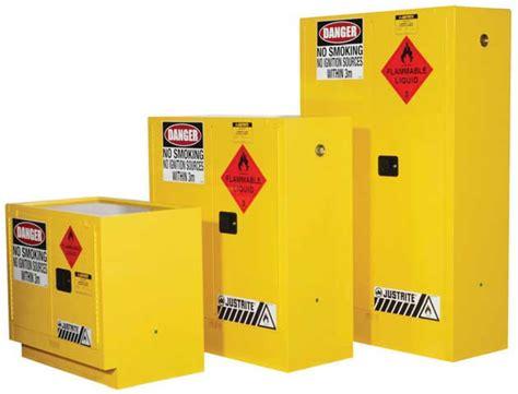 justrite flammable liquid storage cabinet 160l safetyquip