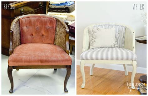 reupholstered tufted chair the golden sycamore