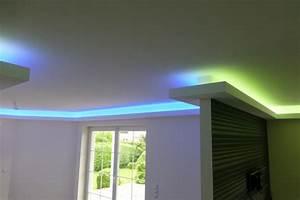 Decken Dekoration Wohnzimmer : anleitung zum aufbau einer indirekten beleuchtung mit leds ~ Markanthonyermac.com Haus und Dekorationen