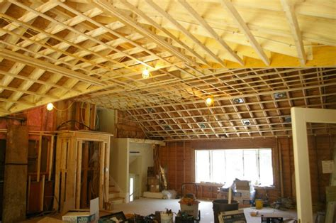 vaulted ceiling joist hangers home design idea