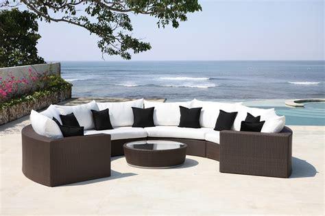 malai half moon lounger luxury wicker furniture outdoor seating garden furniture rattan