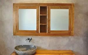 Spiegelschrank Badezimmer Holz : massivholz waschtische waschtisch unterschrank aus teak holz naturstein waschbecken aus ~ Markanthonyermac.com Haus und Dekorationen