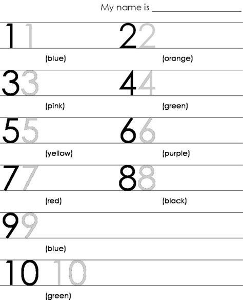 15 Best Images Of Number 10 Worksheets For Prek  Preschool Number Worksheets 1 10