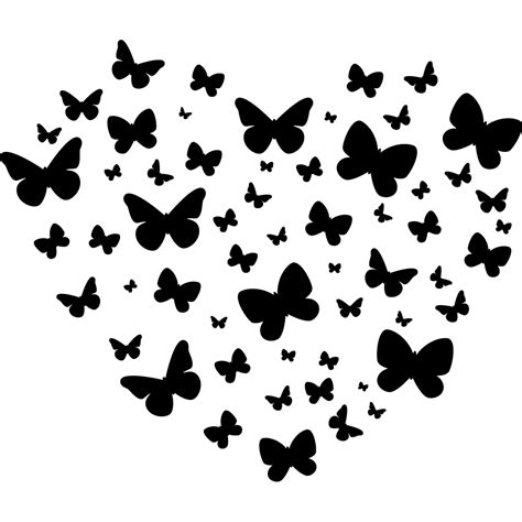 photo papillon noir et blanc 10 stickers coeur papillons pas cher wordmark