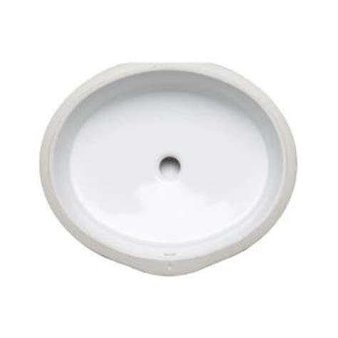 kohler verticyl oval vitreous china undermount bathroom sink in white with overflow drain k 2881
