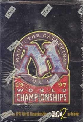 magic the gathering world chionship deck box 1997