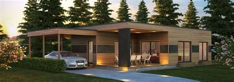 maison ossature bois contemporaine t4 plain pied 71m2