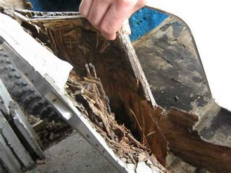 Boat Stern Repair by Boat Renovations Rotted Transom Youtube