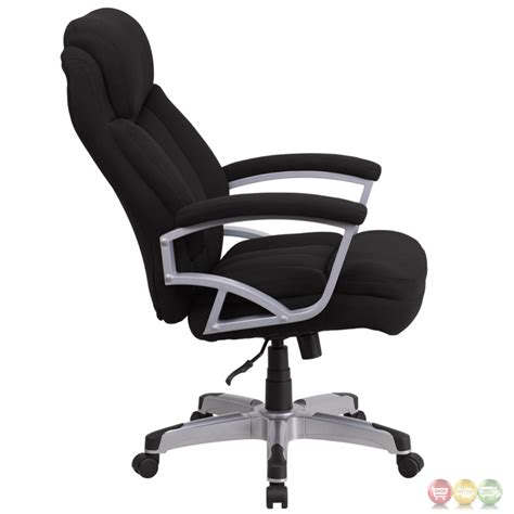 hercules 500 lb capacity big black fabric executive swivel office chair