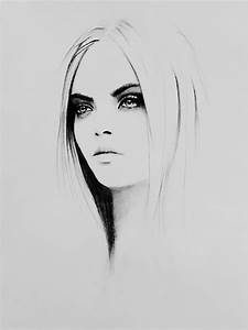 simple girl portrait sketch - artwork by oender tuerk ...
