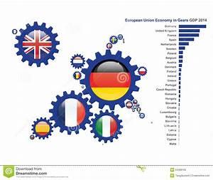 Europe In Gears Economy Stock Vector - Image: 54489155