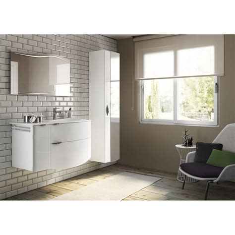 meuble de salle de bains de 100 224 119 blanc beige naturels elegance leroy merlin