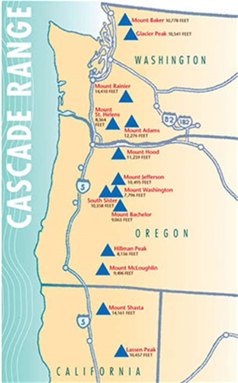 cascade mountain range map images